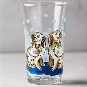Anthro 🐶 Molly Hatch Menagerie Juice Glass Dogs